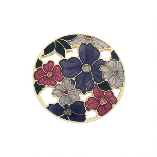 Large Summer Flowers Brooch Gold Plated Brand New Gift Packaging